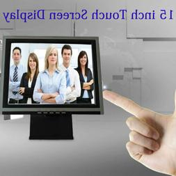 15 Inch Monitors Touch Screen Display LED 1024x768 Resolutio