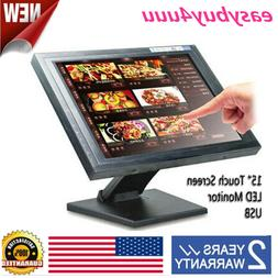 "15"" Touch Screen USB LCD TouchScreen Monitor VGA LED Retail"