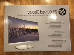 """HP 27"""" Curved HP27SC1 LCD  WLED Monitor - Silver"""