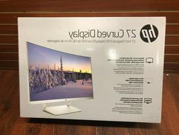 HP 27 Inch Curved Led Monitor Screen NEW