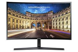 Samsung 27 Inch Curved Monitor Slim Led Screen Black For Lap