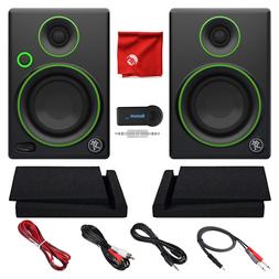 """Mackie 3"""" Monitors Bundle with Foam Isolation Pads Bluetooth"""