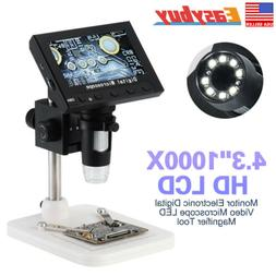 "4.3"" 1000X HD LCD Monitor Electronic Digital Video Microscop"
