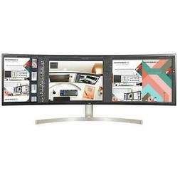 "LG 49WL95C-W 49"" UltraWide Curved DQHD IPS LED Monitor with"