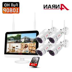 """8CH 1080P Security Camera System Wireless Outdoor with 12"""""""