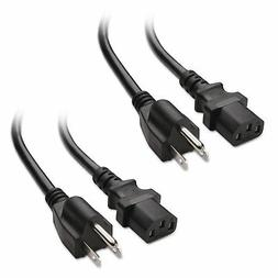 Cable Matters 2-Pack Heavy Duty Computer Monitor Power Cord