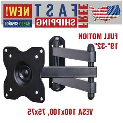 VideoSecu ML12B TV LCD Monitor Wall Mount Full Motion 15 inc