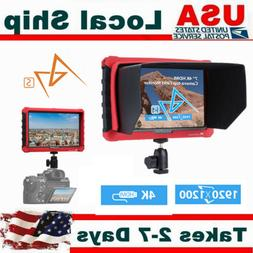 """Lilliput A7S 7"""" LCD IPS Single  on-Camera Filed Monitor HDMI"""