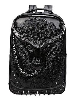 Backpack School Laptop Bag with Chain Nose Ring HN-85