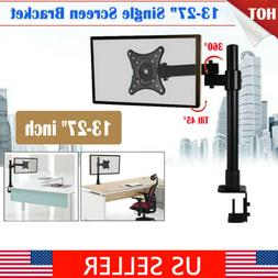 Computer Monitor Desk Mount Stand Swivel Adjustable Arm for