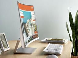 """HP Curved 27"""" Curved LED Monitor - Silver/White"""