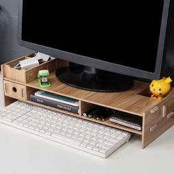 Desk-Holder Shelf Laptop-<font><b>Stand</b></font> Wood Desk