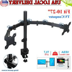 Dual Monitor Mount, LCD Computer Monitor Stand for 13 to 32