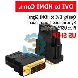 DVI-D Male  to HDMI Female  HD HDTV Monitor Display Adapter