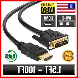 dvi d to hdmi cable adapter monitor