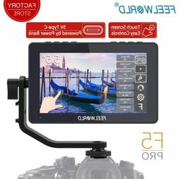 """FEELWORLD F5 Pro 5.5"""" FHD Touch Screen 4K HDMI On-Camera Fie"""