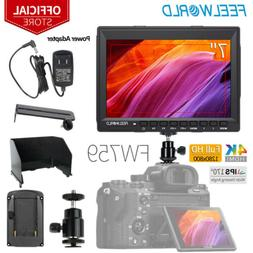 """FEELWORLD FW759 7"""" IPS Camera Field Video Monitor with Sunsh"""