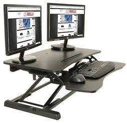 Height Adjustable Standing Desk Monitor Riser Tabletop Sit t