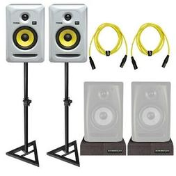 "KRK Rokit RP5G3 5"" White Powered Studio Monitor Speakers Pai"