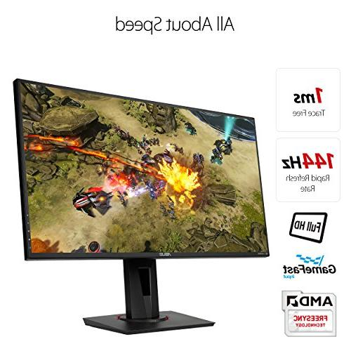 ASUS VG278Q HD 1080p 144Hz 1ms Eye Care G-SYNC Compatible Adaptive Sync with DP HDMI