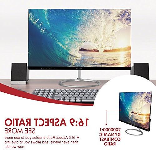 VIOTEK Inch Computer 1920x1080 HD with Bezel-Less Frame, Widescreen Display, HDMI Connection