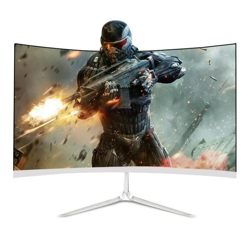 24 inch LED Curved Monitor TechNoob 75hz 1920x 1080 HD Deskt