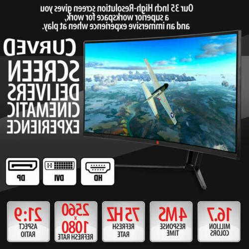"""35"""" Curved Gaming Monitor- Deco Gear"""