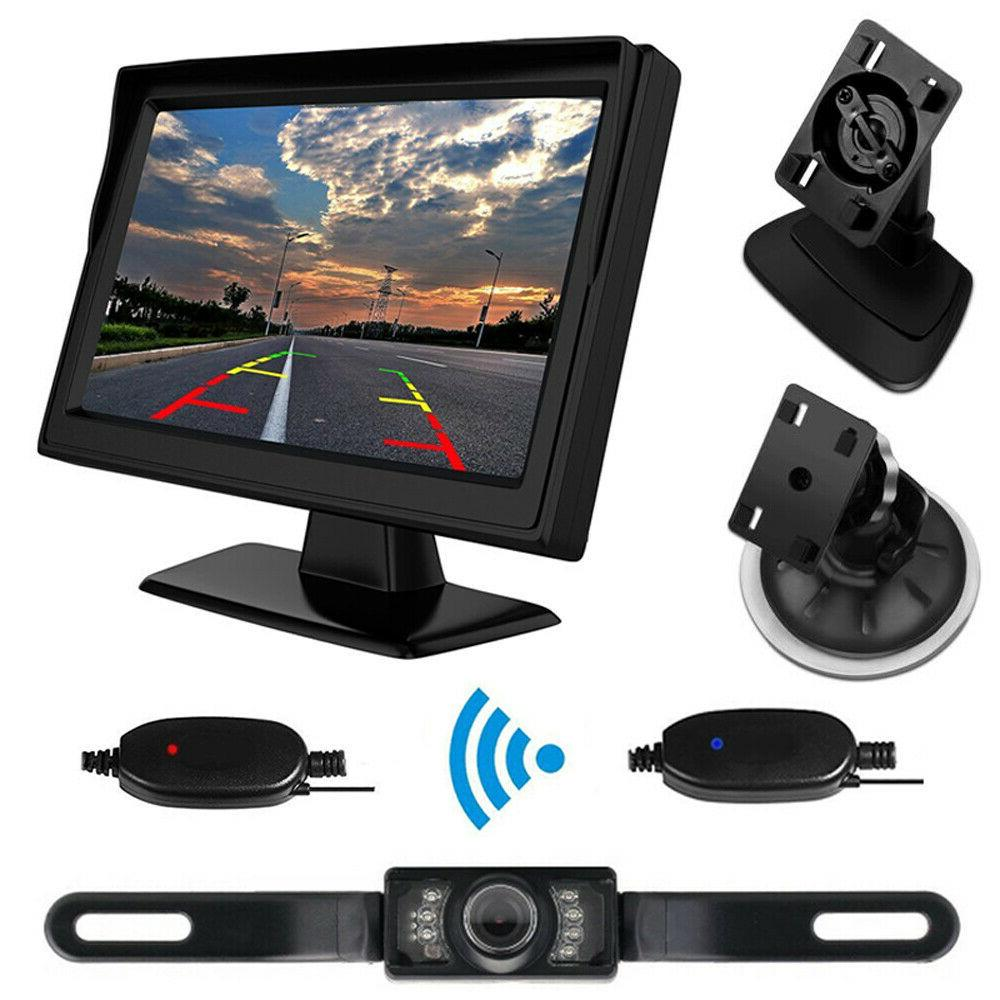 5 inch HD TFT LCD Monitor + Wireless 7LED IR License Plate R