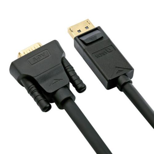 DTECH VGA Displayport to Male Adapter Laptop Monitor