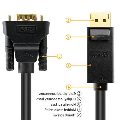 DTECH DP VGA Cable to Adapter Laptop Monitor