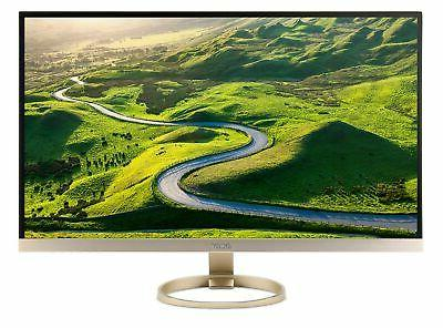 "Acer - 27"" Led Hd Monitor - White, Gold"