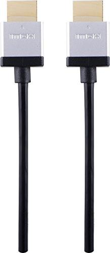 Philips High Speed Ultra Slim HDMI Cable, 8 Foot  Thin Cable