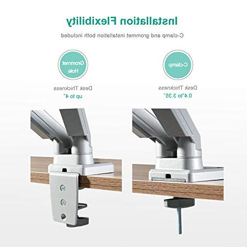 EleTab Dual Arm Stand VESA Mount Fits 2 Screens to - Arm Holds up 17.6