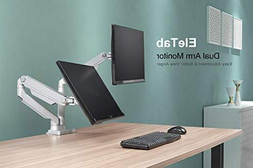 """EleTab Dual Stand 2 Screens 17"""" to 32"""" - Arm Holds 17.6 lbs"""