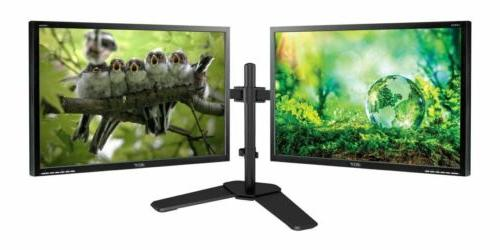 "Matching DUAL LARGE MAJOR BRAND 24"" Widescreen LCD Monitors"