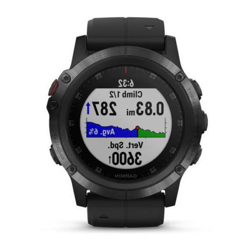 Garmin Fenix 5x Plus GPS Sapphire RATE maps 51mm