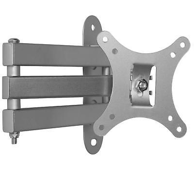 Full Motion Tilt Swivel Monitor TV Wall Mount Bracket for Si