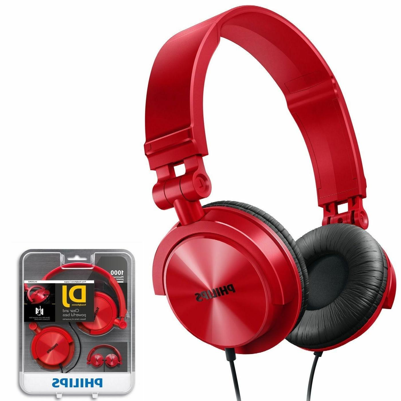 genuine shl3050rd dj style monitoring headphones brand
