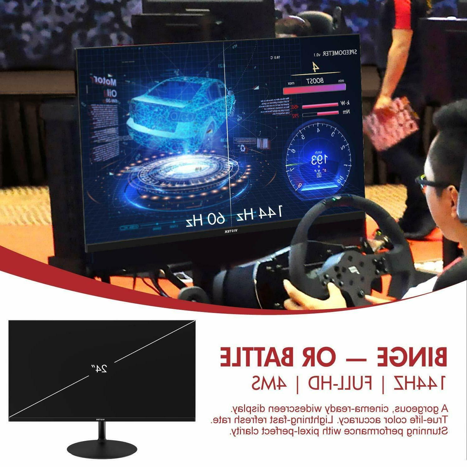 VIOTEK 24inch 144Hz FreeSync HDMI DP