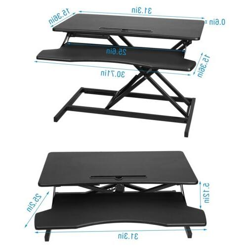 Height Adjustable 2 Riser Standing Sit Stand