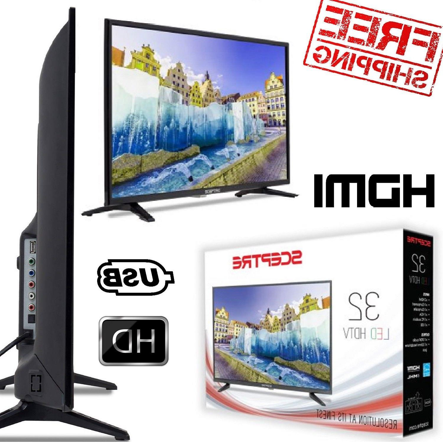 "LED TV 32"" HD Screen Thin Sceptre HDMI USB TV Home Mountable"