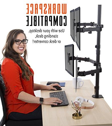 Desk Mount Height Monitor Stand and Desk Clamp VESA Mount