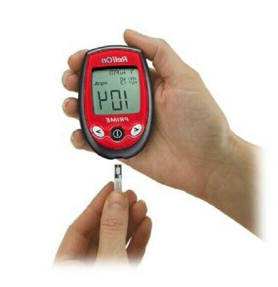 ReliOn Prime Blood Glucose Monitor Meter and 200 Strips