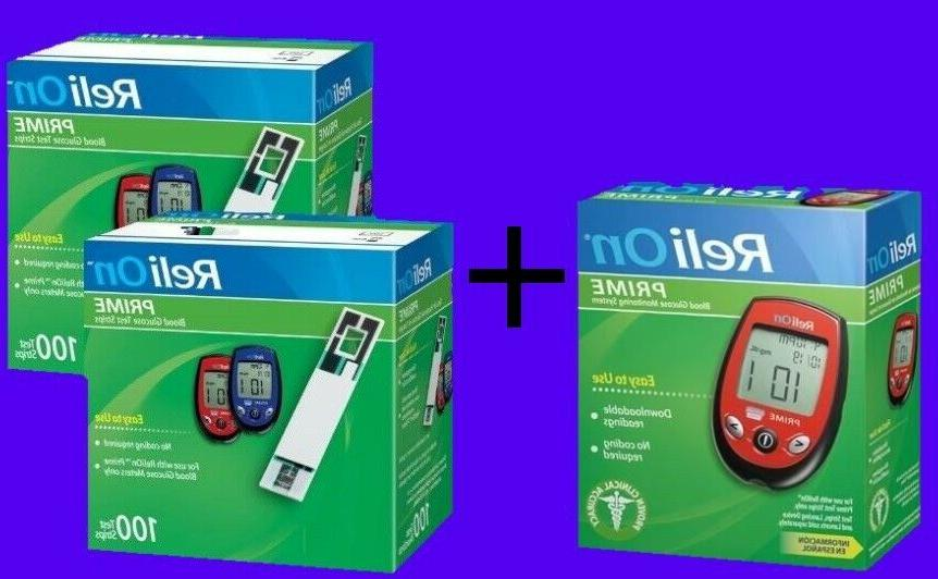 ReliOn Blood Monitor and Strips