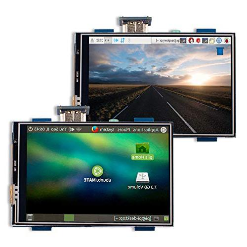 Miuzei inch LCD Display Touch Screen Monitor Resolution 320 to 1920 1080,HDMI Audio Raspberry Model B+ 2 Touch Pen