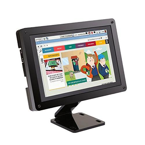Raspberry Pi Screen, iUniker 5-inch Multi-Touch Capacitive Pi Touch Screen  800x480 Resolution Free Driver HDMI Raspberry Pi Monitor With Case for Pi 3