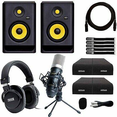 "KRK Rokit RP5G4 5"" Powered Studio Monitor Speakers Recording"