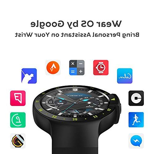 Ticwatch Smartwatch-Knight,1.4 OLED Display, 2.0,Compatible iOS Android, Google Assistant