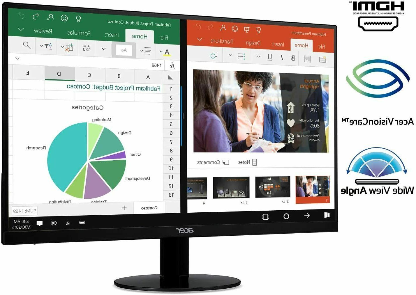 Acer SB220Q bi 21.5 Inches Full HD  IPS Ultra-Thin Zero Fram