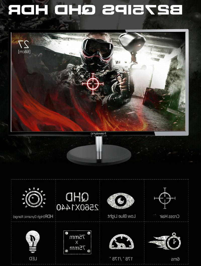 "HDR 75Hz 27""QHD 2560x1440 FreeSync Monitor"